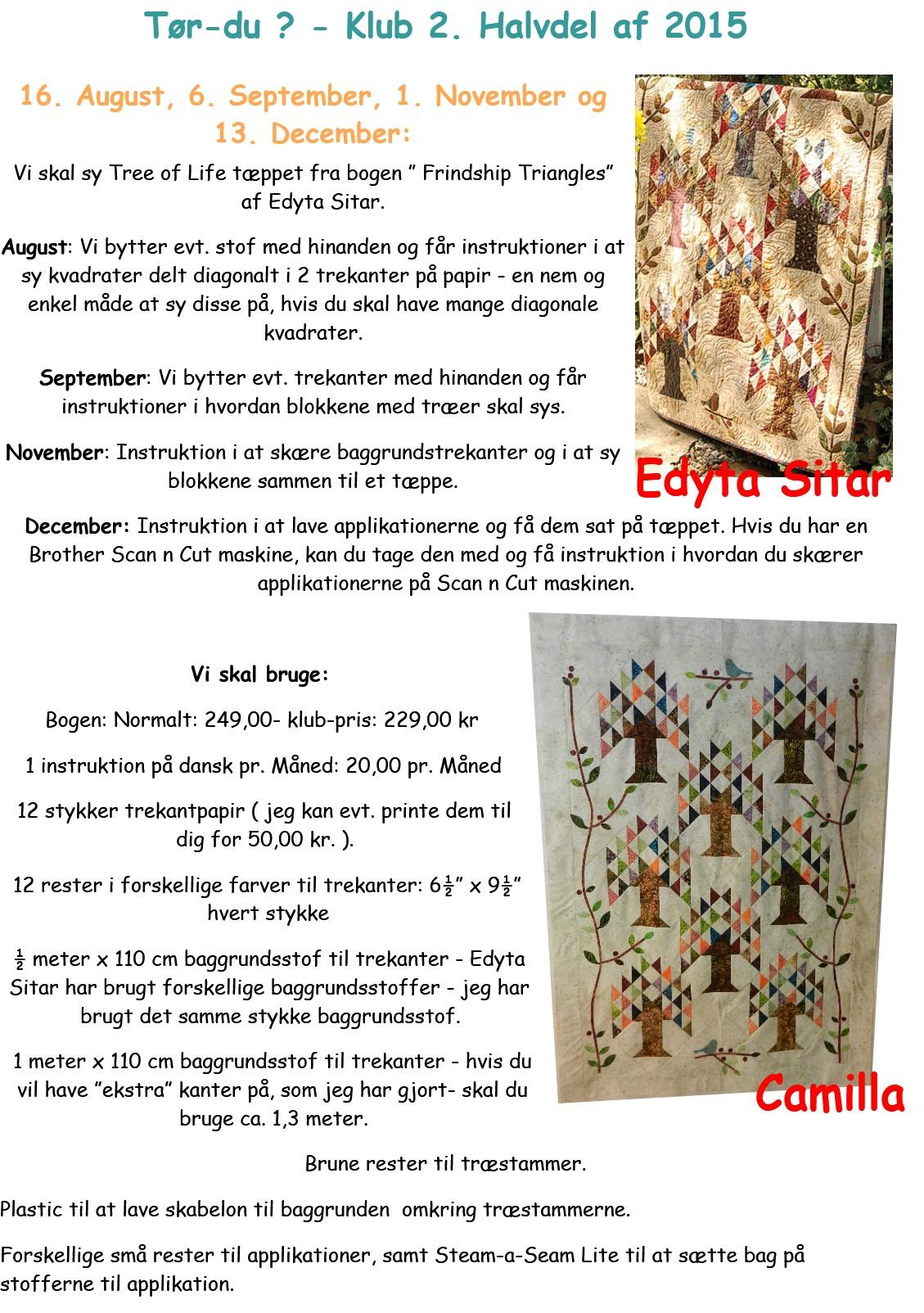 Tree of Life tæppet fra Edyta Sitars bog Frindship Triangles.